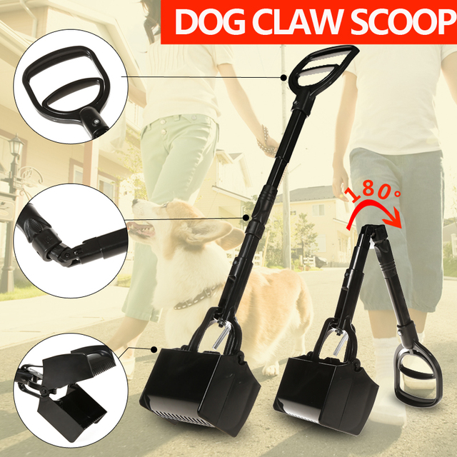 free shipping dog poop scooper  foldable and easy carry for garden tools dog feces folder
