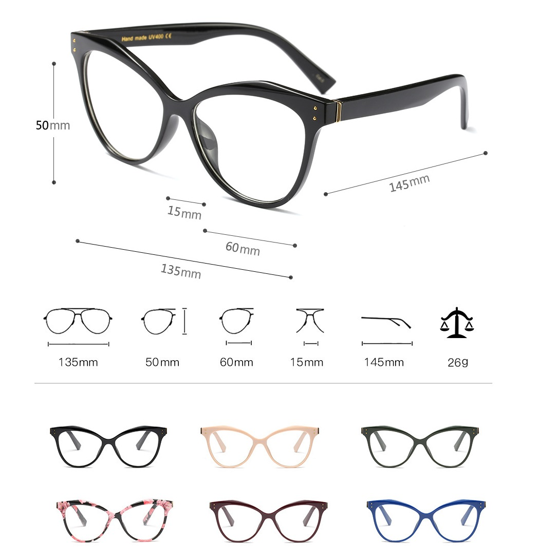 48a07965d038 Vazrobe Cat Eye Glasses Women Fashion Clear Lens Eyeglass Female Decoration  Cateye Vintage Eyewear Ladies Points for Diopter-in Eyewear Frames from  Apparel ...