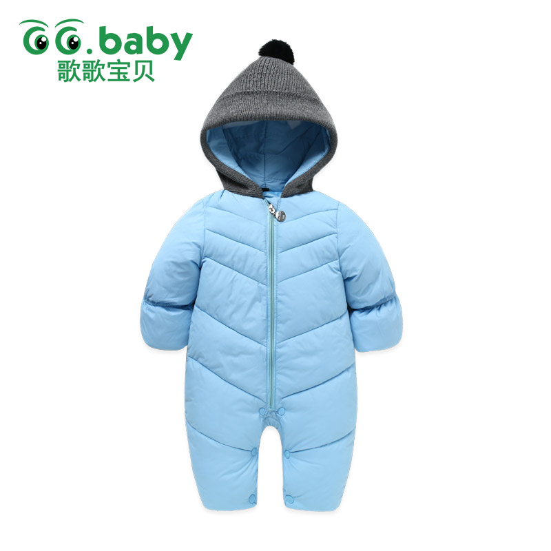 New Baby Winter Clothes Baby Boy Romper New Born Baby Snowsuit Clothes Cotton Kids Overalls For Newborns Fur Ball Hooded Overall 4pcs new for ball uff bes m18mg noc80b s04g
