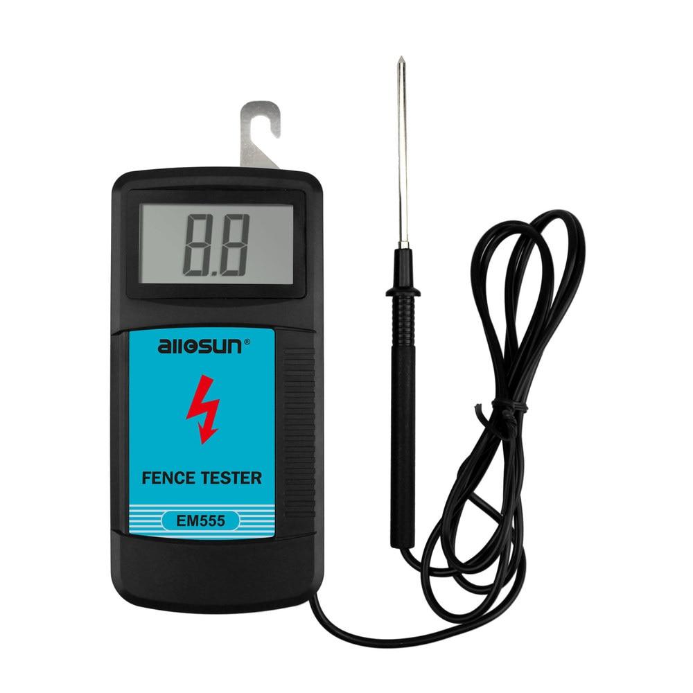 TODO o SOL EM555 Cerca de medição tester testador de voltagem 0.03 W controladores de cerca de cerca Elétrica de 300 V a 9900 V pulso tensão