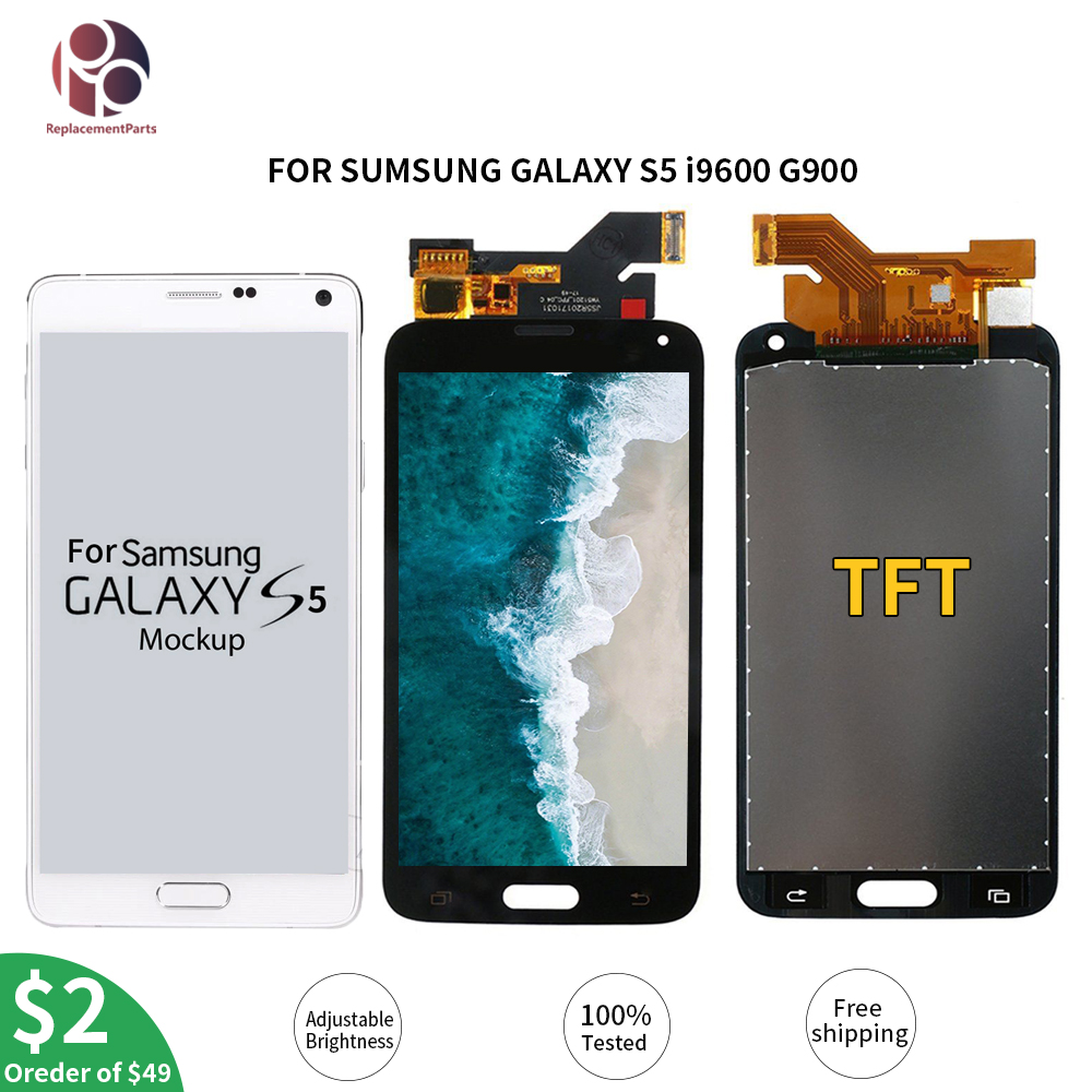 Tested <font><b>G900F</b></font> LCD Display Touch Screen Digitizer Assembly For Samsung Galaxy S5 i9600 G900M G900A G900T G900FD image