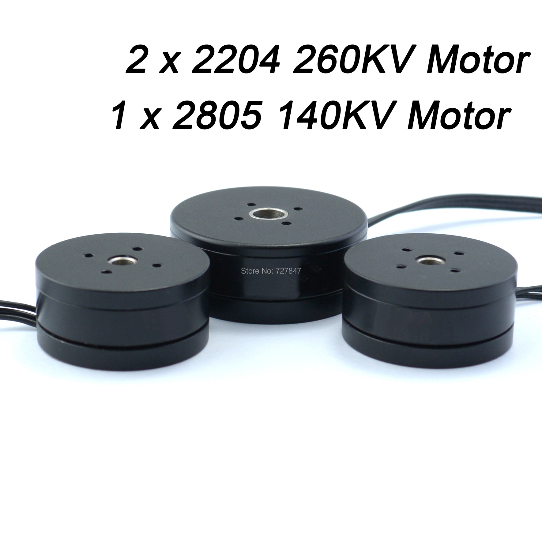 2 X 2204 260kv Motor + 1 X 2805 140kv  Brushless Gimbal  Motor  For  3 Axis Brushless Gimbal