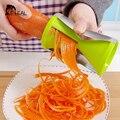 Triturar Verduras zanahoria Slicer Rotary Espiral en forma de Embudo Rallador Cuchillos Utensilios de Cocina Herramientas de Cocina