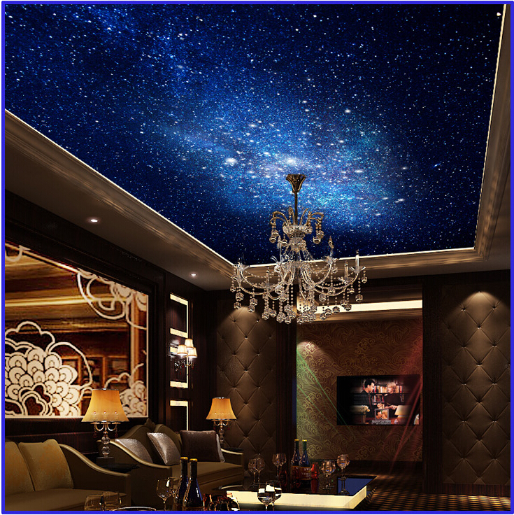 Starry sky wallpaper for walls for Ceiling mural in a smoker s lounge