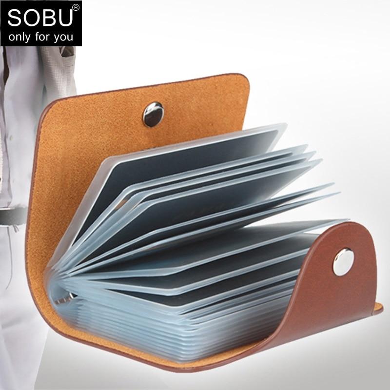 Новый Кошелек из искусственной кожи с 24 отделениями для карт, чехол для женщин, визитница, держатель для банковских карт, мужская сумка для к...