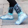 Soumit PVC Reutilizáveis Ajustável Antiderrapante Tampa Da Sapata Sapato Portátil À Prova D' Água Cobre para Proteger Sapatos Azul Transparente