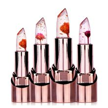 Flower Lipstick Color Changing labiales matte Maquiagem Lip  Make up rouge a levre matte Long Lasting Moisture Magic Beauty