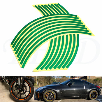Car motorcycle Tire Rim Stickers 17-19 Reflective Car-Covers Tape Wheel Tyre Sticker Decors For TRIUMPH DAYTONA 675 image