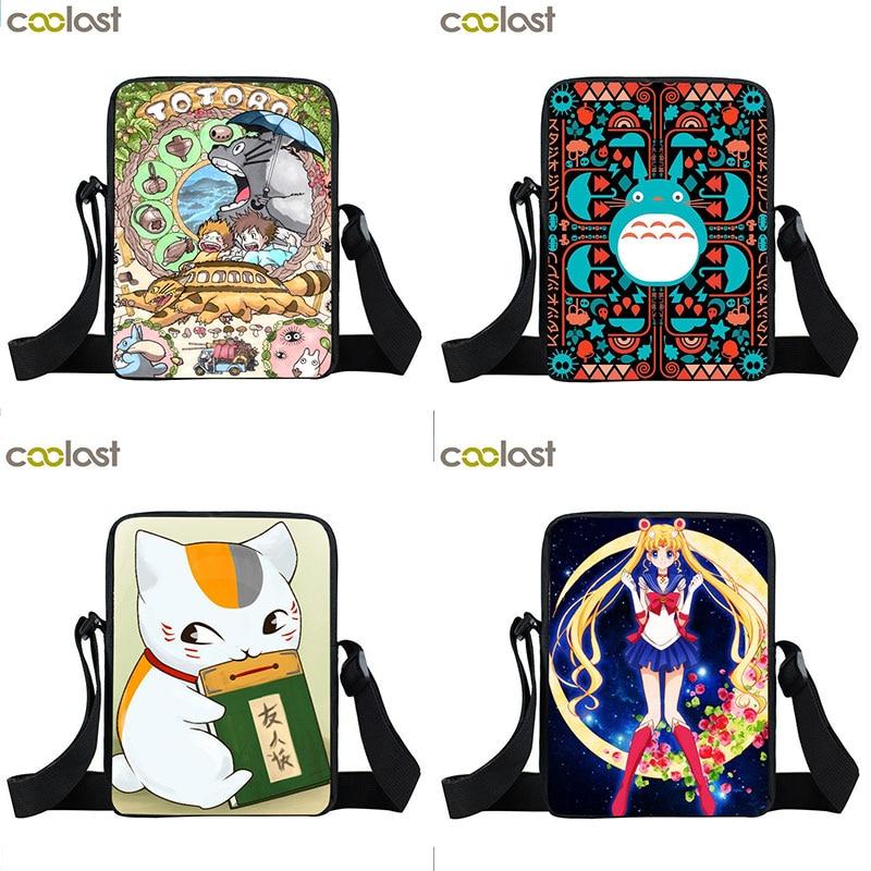 Nyanko Sensei Crossbody-Bags Women Handbag Moon Small Totoro/natsume Luna Anime Girls
