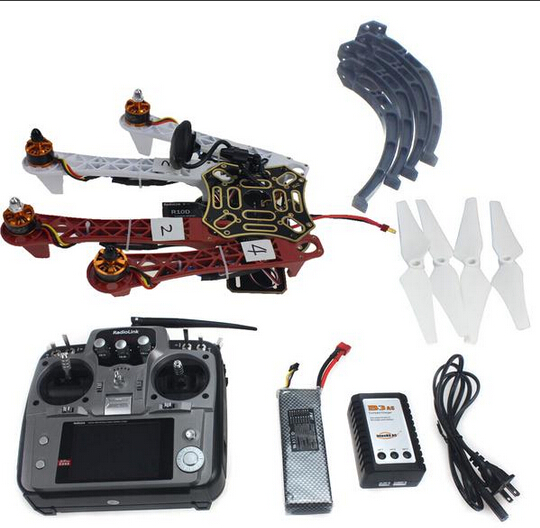 F02192-S 4-axis Aircraft RC Quadrocopter Helicopter RTF F450-V2 Frame GPS APM2.8 AT10 TX/RX Battery цена 2017