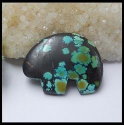 Полудрагоценные камни, Резные Кабошон из бирюзы с изображением животных, 45x36x7 мм 16,9 г Кабошон из натурального камня, кабошон с изображением ...