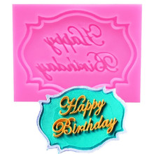 Happy Birthday Letter form silicone mold chocolate fondant cake decoration Tools cupcake mould Soap Baking tools