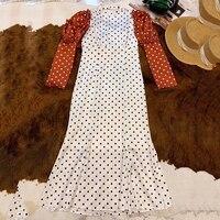 Длинное платье для женщин Летнее праздничное элегантное с круглым вырезом с длинным рукавом А силуэта платье 2019 модное женское новое плать