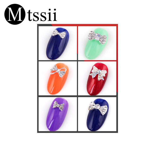 Colorful Bow Tie Nail Art Decoration 2018 New Rhinestones for Nails Best  Selling Nail Design Accessoires High Quality 24 Types 33216ce0b83b