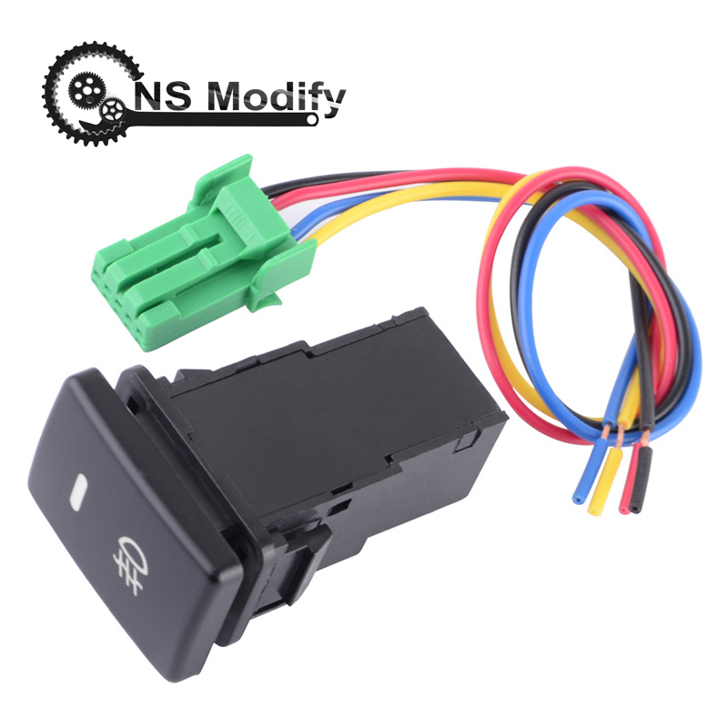 US $3 88 |NS Modify Electric Foglight Switch Control With Wiring Harness 5  PINS Fog Lamp Switch Push Button Switch For Toyota Corolla Vios-in Car