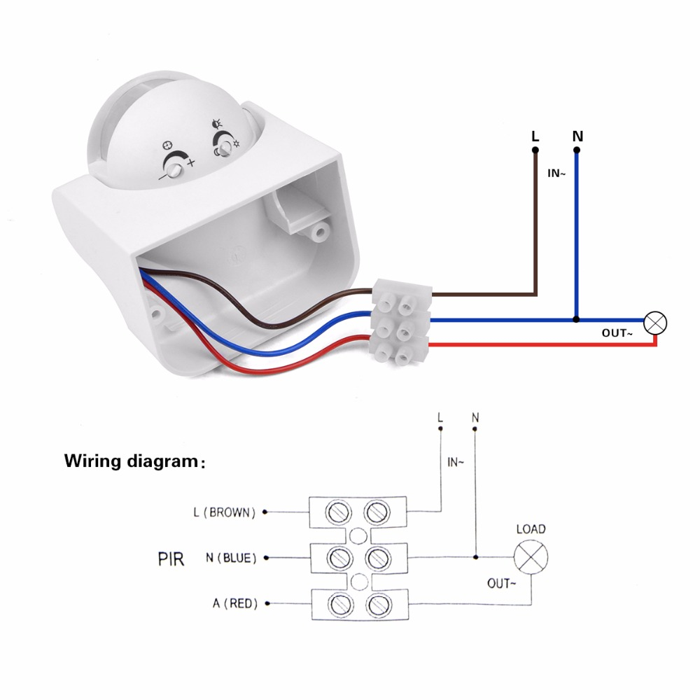 Wiring diagram sensor led lights wiring diagram 180 degree adjustable led light power switch pir motion sensor motion sensor light hook up diagram wiring diagram sensor led lights cheapraybanclubmaster Images