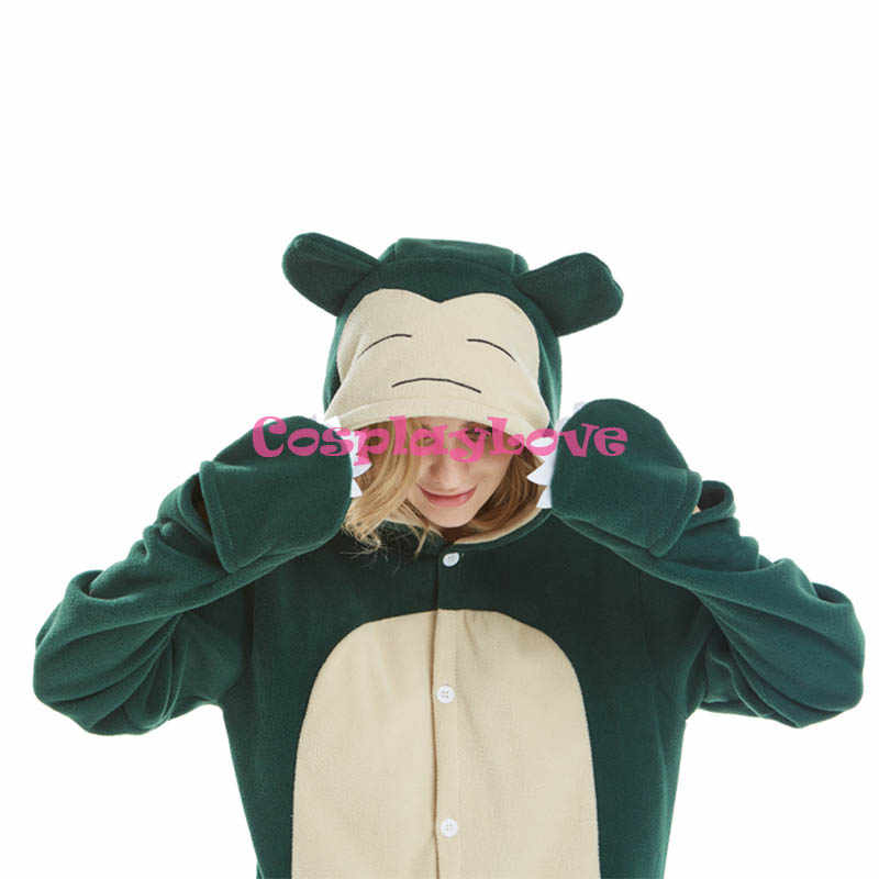 ... Snorlax Pajamas Animal Cosplay Costume Flannel Girls Boys Adult Pajamas  Onesies Cartoon Sleepwear Sleepsuit ... 4070f60d5
