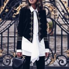 2020 Spring Autumn Jacket Coat Women Long Sleeve Button Slim Work Basic