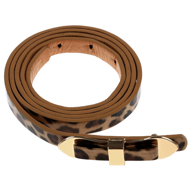Leopard Cute Slender Candy Color Bowknot Layered Waist Slender   Belt   For Women 102*1cm