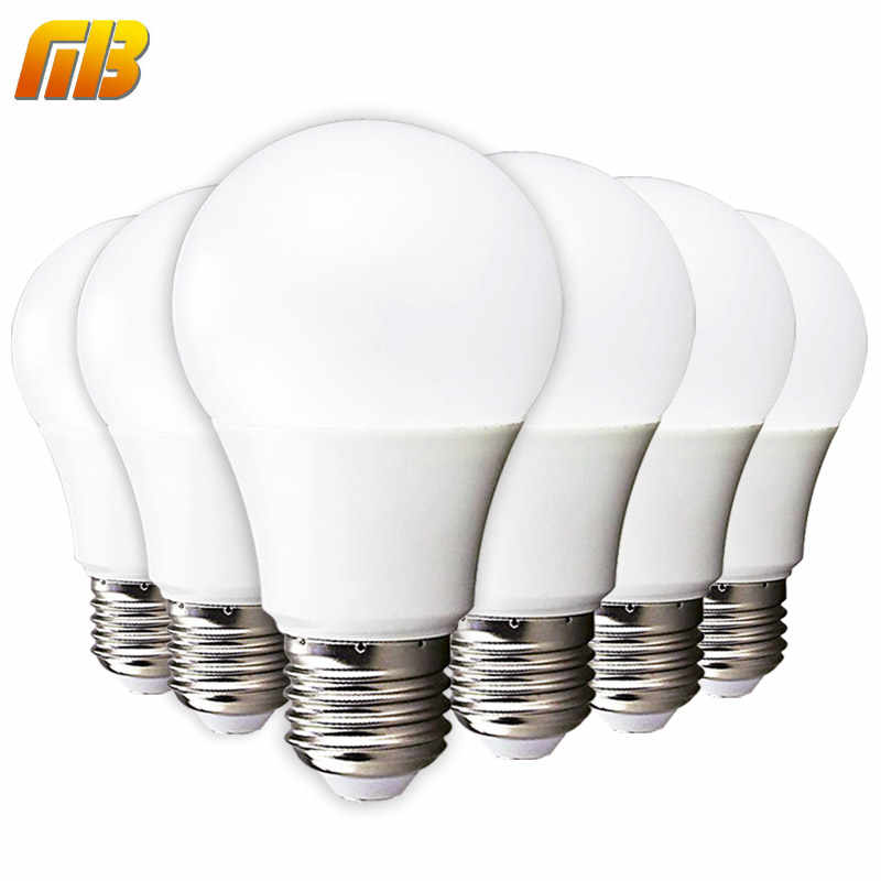 6pcs LED Bulb E27 E14 3W 5W 7W 9W 12W 15W 18W Smart IC LED Light Cold White Warm White Lampada Ampoule Bombilla Lamp Lighting