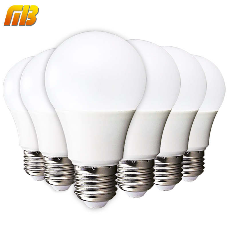 [MingBen] 6pcs LED Bulb E27 E14 3W 5W 7W 9W 12W 15W 220V Smart IC LED Light Cold White Warm White Lampada Ampoule Bombilla Lamp no flicker led bulb e27 9w led lamp 15w ac 220v 230v 240v cold white warm white lampada ampoule bombilla led