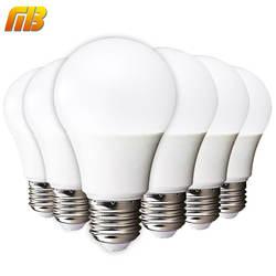 [MingBen] 6 шт СИД Лампочки E27 E14 3Вт 5Вт 7Вт 9Вт 12Вт 15вт 18Вт Осветительная Смарт Лампочки IC Светодиодные лампы холодный белый теплый белый Лампочка