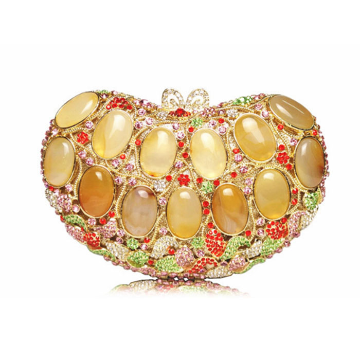 lady multi colour rhinestone sparkly clutch bag women luxury crystal evening bags lady gifts party purse femme soiree pochette luxury golden rose yellow flower party purse women wedding bridal handbag pouch soiree pochette bag crystal clutch evening bag