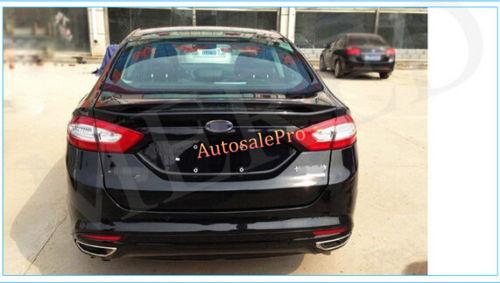 Unpaint Telhado Traseiro Trunk Lip Spoiler Asa Decoração Guarnição ABS para FORD FUSION Mondeo Sedan 2013 2014 2015