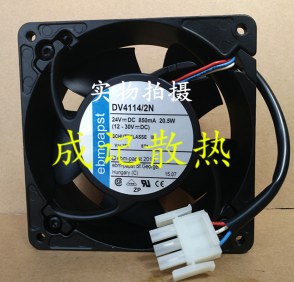 ebm papst DV4114/2N Server Square Fan DC 24V 20.5W 3-wire 120x120x38mm free shipping emacro mechatronics f1238h12b1 dc 12v 0 440a 3 wire 3 pin connector 110mm 120x120x38mm server cooling square fan