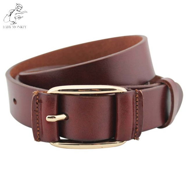 New 2016 100% Cowhide Genuine Leather Belts For Women First Layer Of Pure Leather Pin Buckle Casual Vintage Ceinture Femme Q53