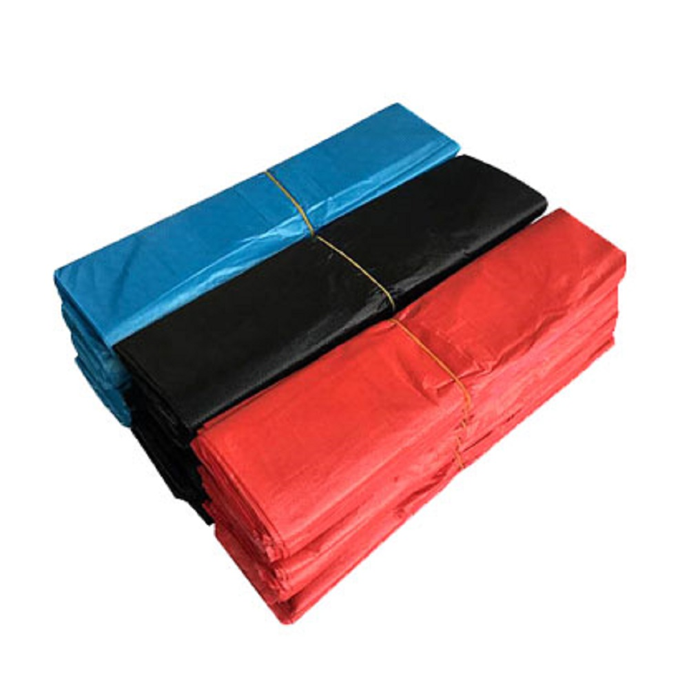 Black And White Red And Blue Bag Household Garbage Bag Thickening Disposable Vest Plastic Bag Portable Food Grade Pe Fresh-keepi