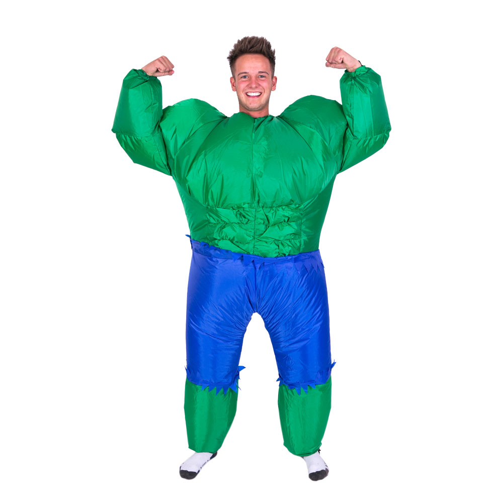 new avengers inflatable hulk costumes for adults green