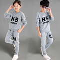 2016 Tracksuit 2-11 Ages Long-sleeved Clothes Set Children's Clothing Sets Boys and Girls Sweater and Trousers Sport Suits