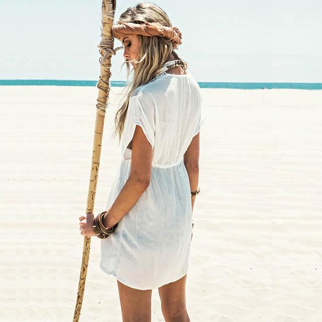newest collection 7745b 8f59c Saida de praia designer strand tunika frauen kleid Abdeckung UK weißen  bikini badeanzug spitze bade kleid kurzen robe ete dames jurken