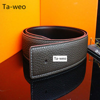 (No Buckle, Only Belt) Fashion Casual Unisex Genuine Leather Belts For Women Designer Belts Men High Quality
