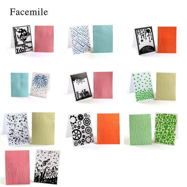 Facemile 1 unids plástico Relieves de papel Carpeta para regalo ...