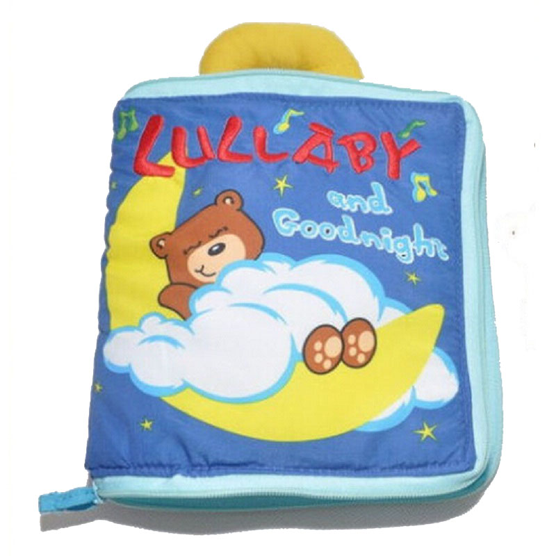 Bear Cloth Book Baby játékok Vicces aranyos alvás eszterga Gyerekjátékok Bear Cloth Book 0-12 hónapos Cartoon Baby Development Toy