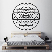 Sri Yantra Wall Art Sticker Meditation Spiritual BedRoom Wall Decor Sacred Geometry Art Mural Home Decor Removable Decor N227 cheap Modern For Refrigerator For Smoke Exhaust For Cabinet Stove For Tile For Wall Toilet Stickers Furniture Stickers Switch Panel Stickers