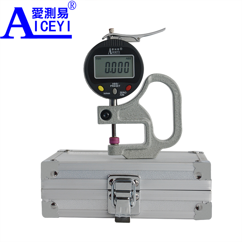 Ceramic Head 0.001 mm Digital Thickness Gauge High Precision Electronic Micrometer Width Measuring Tool Tester Data Output new high precision digital micrometer precision thickness gauge 0 12 7mm 0 001mm paper film fabric tape thickness measurement