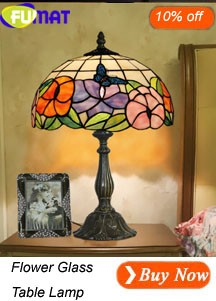 Flower Glass Table Lamp
