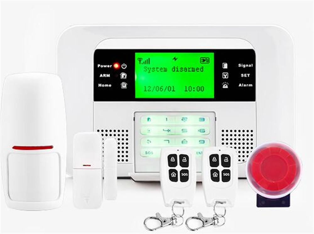 Dual Network GSM+PSTN Burglar Alarm System free shipping quad band 101 zones dual network pstn