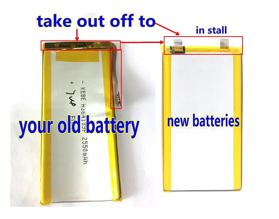 KEBE H364189P 2550mha JBHT-KB-A208-FPC-V1.0 Battery For China Clone Imitation MTK Andorid Smart Phone LANDVO S6