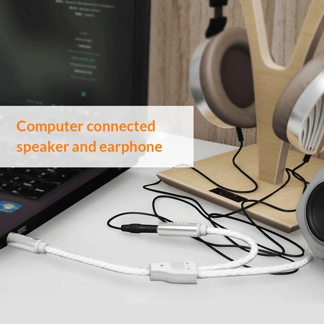Unnlink 4 Pole 3,5 Jack Audio Splitter extensión micrófono 1X2 auriculares adaptador AUX Cable para auriculares MP3 MP4 Player Radio