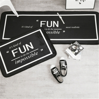 Independent individual character black and white porch corridor floor mat kitchen sitting room bedroom cushion for leaning on re