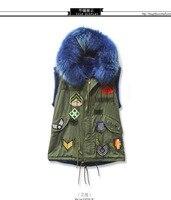 2017, Новая мода Короткие из искусственного лисьего жилет с капюшоном Для женщин зимние стройнит очень длинные Искусственный мех Вязаные Жил