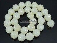 Mẹ Da Trắng tự nhiên Of Pearl MOP Stones 14 mét Mịn Roundr Loose Beads 15 '' Strand cho Trang Sức Làm Thủ Công 5 Strands/Gói