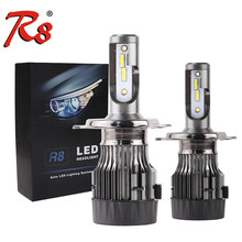 R8 2pcs H4 H7 H11 H1 Car LED Headlight Bulbs 36W 4000LM LED H7 9005 9006 9007 H13 5202 COB Automobile Headlamp 6500K 12V White(China)