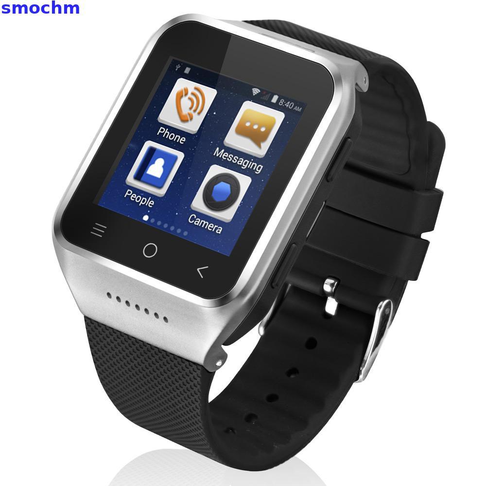 smochm S8  Bluetooth Smart Watch phone Android 4.4 MTK6572 Dual Core GPS 2.0MP Camera WCDMA WiFi MP3 MP4 Smartwatch indigi® 2 in 1 bluetooth gsm wireless smart watch phone cell camera mp3 for android galaxy s6 edge note 4 3 silver
