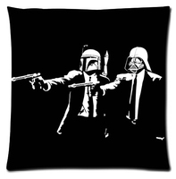 Custom Star Wars Fashion Style Glossy Soft Modernative Suitbale Single Pillow Case mini Size 33x33cm(Twin Sides)