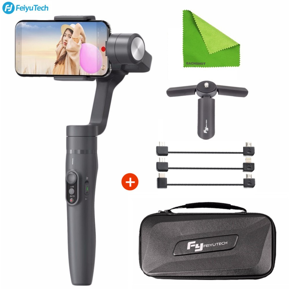 Feiyutech Feiyu Vimble 2 Cell Phone Mobile Gimbal Handheld 3 Axis Stabilizer For iPhone X 8 7 6 Samsung Galax S9 Plus Smartphone feiyutech feiyu spg gimbal 3 axis splash proof handheld gimbal stabilizer for iphone x 8 7 6 plus smartphone gopro action camera